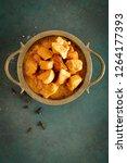 chicken masala curry  spicy... | Shutterstock . vector #1264177393