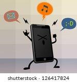 happy cute smart phone...