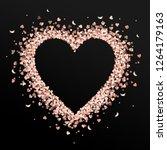 Rose Gold Glitter Heart Frame....