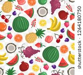 vector seamless pattern with... | Shutterstock .eps vector #1264180750