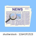 newspaper and magnifying glass. ...   Shutterstock . vector #1264191523