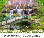 3d wallpaper background design...   Shutterstock . vector #1264193869