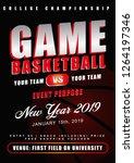 basketball game flyer | Shutterstock .eps vector #1264197346