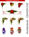 christmas elements for your... | Shutterstock .eps vector #1264201120