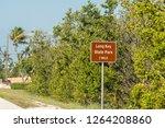 long key  usa sign for florida...   Shutterstock . vector #1264208860