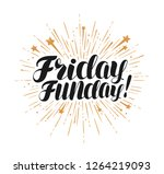 friday funday  lettering.... | Shutterstock .eps vector #1264219093