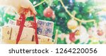 christmas shopping gifts. gifts ... | Shutterstock . vector #1264220056