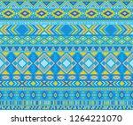 peruvian american indian... | Shutterstock .eps vector #1264221070