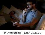 modern workaholic businessman... | Shutterstock . vector #1264223170