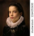 Portrait Of Girl With Ruff...