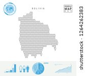 bolivia people icon map. people ... | Shutterstock .eps vector #1264262383