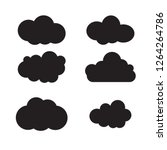 clouds silhouettes. vector set | Shutterstock .eps vector #1264264786