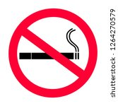 no smoking vector icon   no... | Shutterstock .eps vector #1264270579