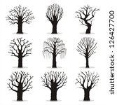 collection of trees silhouettes | Shutterstock .eps vector #126427700