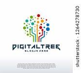 digital tree logo designs... | Shutterstock .eps vector #1264278730