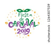 fiesta de carnaval 2019. logo...   Shutterstock .eps vector #1264307539