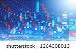 display of stock market digital ...   Shutterstock . vector #1264308013
