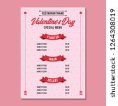 valentine day special menu 1... | Shutterstock .eps vector #1264308019