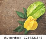 star fruit on wood background | Shutterstock . vector #1264321546