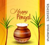 happy pongal festival of tamil... | Shutterstock .eps vector #1264333426