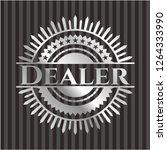 dealer silvery badge or emblem | Shutterstock .eps vector #1264333990