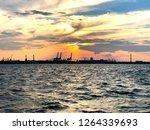 sea view of sunset | Shutterstock . vector #1264339693