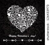 happy valentine's day  greeting ... | Shutterstock . vector #126433973