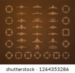 vintage decor elements and... | Shutterstock .eps vector #1264353286