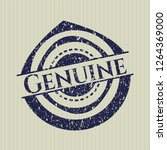 blue genuine distress rubber... | Shutterstock .eps vector #1264369000