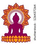 meditation   vector image  ...   Shutterstock .eps vector #126437264