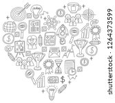 vector set of bussines icons in ... | Shutterstock .eps vector #1264373599