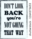 do not look back you are not... | Shutterstock .eps vector #1264373653