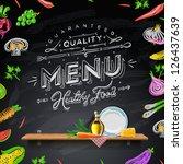 vector set of design elements... | Shutterstock .eps vector #126437639
