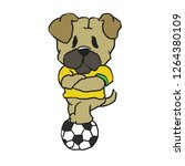 pug brazilian soccer player   Shutterstock .eps vector #1264380109