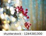 a lot of christmas red balls... | Shutterstock . vector #1264381300