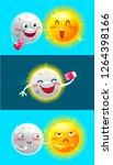 cartoon characters moon and sun.... | Shutterstock .eps vector #1264398166