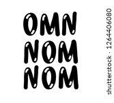 omn nom nom black   Shutterstock .eps vector #1264406080