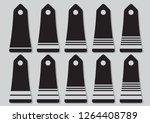 military ranks and insignia of... | Shutterstock .eps vector #1264408789