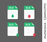flat design with xls files... | Shutterstock .eps vector #1264412953