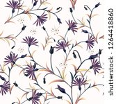 fashion vector pattern with... | Shutterstock .eps vector #1264418860