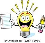 cartoon illustration of a light ... | Shutterstock .eps vector #126441998
