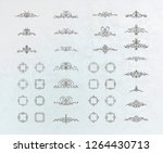 vintage decor elements and... | Shutterstock .eps vector #1264430713