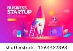 new startup project business... | Shutterstock .eps vector #1264432393