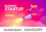 happy successful businessman... | Shutterstock .eps vector #1264432399