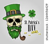 stickers set for saint patricks ... | Shutterstock .eps vector #1264456429