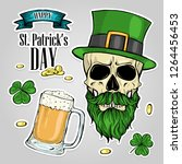 stickers set for saint patricks ... | Shutterstock .eps vector #1264456453