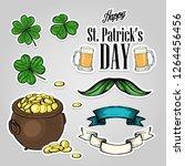stickers set for saint patricks ... | Shutterstock .eps vector #1264456456