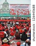 bangkok   jan 29  red shirt... | Shutterstock . vector #126445688
