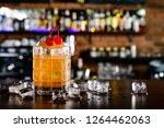 harvey wallbanger cocktail in... | Shutterstock . vector #1264462063