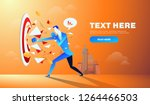 businessman hitting and...   Shutterstock .eps vector #1264466503